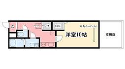 兵庫県西宮市荒戎町の賃貸アパートの間取り