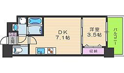 セレニテ福島カルム 9階1DKの間取り
