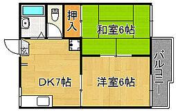 ハイツナカタI[1階]の間取り