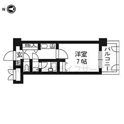 ライオンズマンション四条堀川705[7階]の間取り