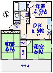 ハイツフレグランスA棟[1階]の間取り