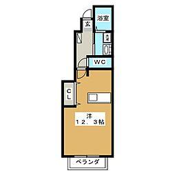 ロイヤルステージ・アイ D[1階]の間取り