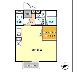 アルシュ12[1階]の間取り