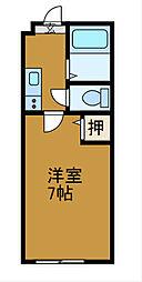 神奈川県相模原市南区文京2丁目の賃貸アパートの間取り