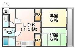 フォーラムイン浜田[3階]の間取り