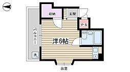 日榮駒込ハイツ[202号室]の間取り