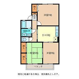 メゾン神田B棟[2階]の間取り