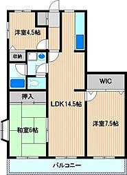 メイフェア—鹿島田No.4[2階]の間取り