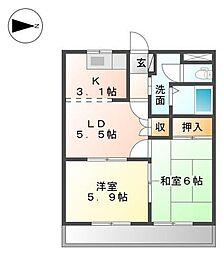 S・Jルミナス[2階]の間取り