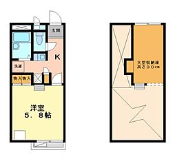兵庫県神戸市西区丸塚1丁目の賃貸マンションの間取り