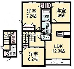 クレインアート C棟[2階]の間取り