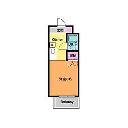 ウィンドプラザ[5階]の間取り