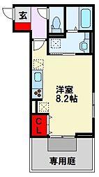 仮)D-room清納 3階ワンルームの間取り