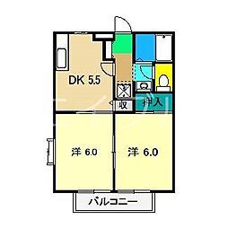 ソレジオみづき[1階]の間取り