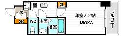 サムティ阿倍野昭和町 9階1Kの間取り