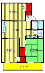 パールハイツ松丸23[2階]の間取り
