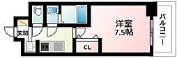 Osaka Metro御堂筋線 東三国駅 徒歩14分の賃貸マンション 3階1Kの間取り