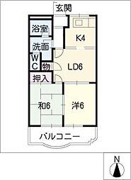 レジデンス水野壱番館[2階]の間取り
