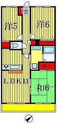 ライオンズプラザ北松戸[8階]の間取り