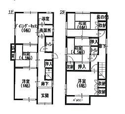 [一戸建] 兵庫県姫路市神屋町4丁目 の賃貸【/】の間取り