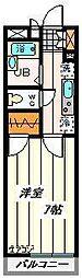 JR京浜東北・根岸線 大宮駅 徒歩7分の賃貸マンション 4階1Kの間取り