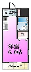 ベイグランデ北栄[3階]の間取り