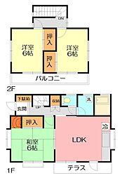 [一戸建] 神奈川県座間市栗原中央3丁目 の賃貸【/】の間取り