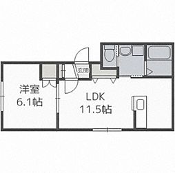 LUCY HOUSE 2階1LDKの間取り
