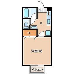 第二サンハイツ[2階]の間取り