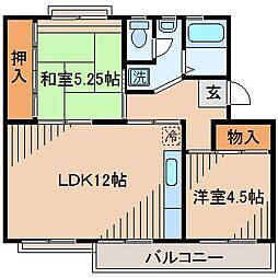 麻生台団地3号棟[4階]の間取り