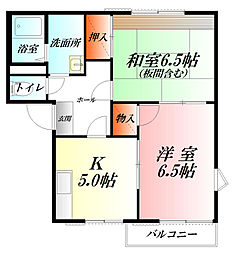 コーポ東A棟[2階]の間取り