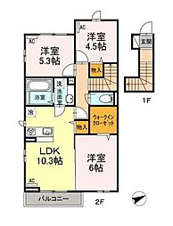 (仮)D-room西台3丁目[2階]の間取り