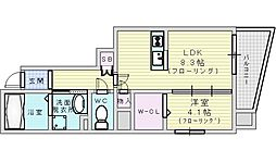 JR東海道・山陽本線 吹田駅 徒歩3分の賃貸マンション 3階1LDKの間取り