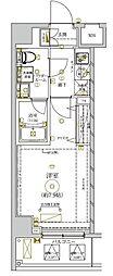 (仮称)Stage Court KAMATA 5階1Kの間取り