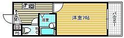 アバンダンス天神橋[2階]の間取り