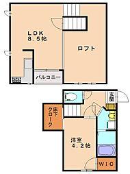 CB高宮ディライト[2階]の間取り