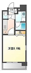 ステージファースト名駅[8階]の間取り