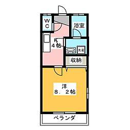 プラムハイツB[1階]の間取り