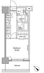 東京メトロ有楽町線 月島駅 徒歩1分の賃貸マンション 6階1Kの間取り