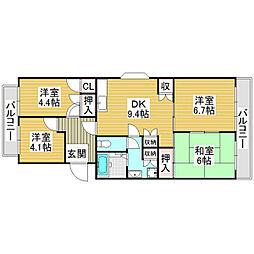 イングス21[2階]の間取り