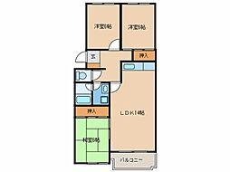 西日本かなえ第2ビル[107号室]の間取り