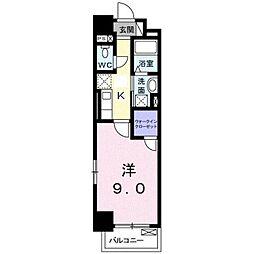 JR横浜線 新横浜駅 徒歩13分の賃貸マンション 2階1Kの間取り