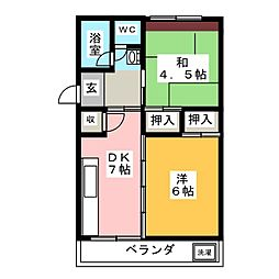 サンシャイン丸松[2階]の間取り