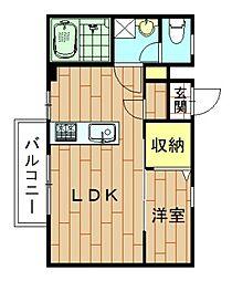神奈川県川崎市幸区鹿島田3丁目の賃貸マンションの間取り