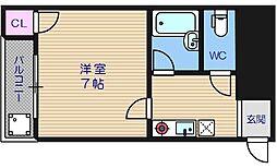 ハーモニー玉造[3階]の間取り