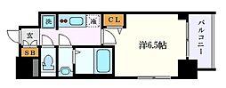 ファステート名古屋ラプソディ 10階1Kの間取り