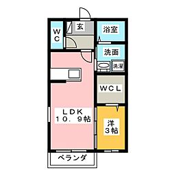 メルベーユ コートC[2階]の間取り