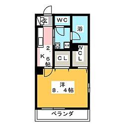 鶴見区生麦3丁目シャーメゾン(仮) 2階1Kの間取り