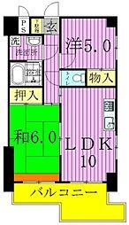 ウィングス竹ノ塚[7階]の間取り