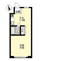 ウィングコート石川台[2階]の間取り